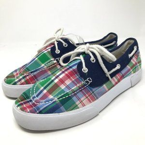 Polo Ralph Lauren Lilia Madras Plaid Sneakers 10B